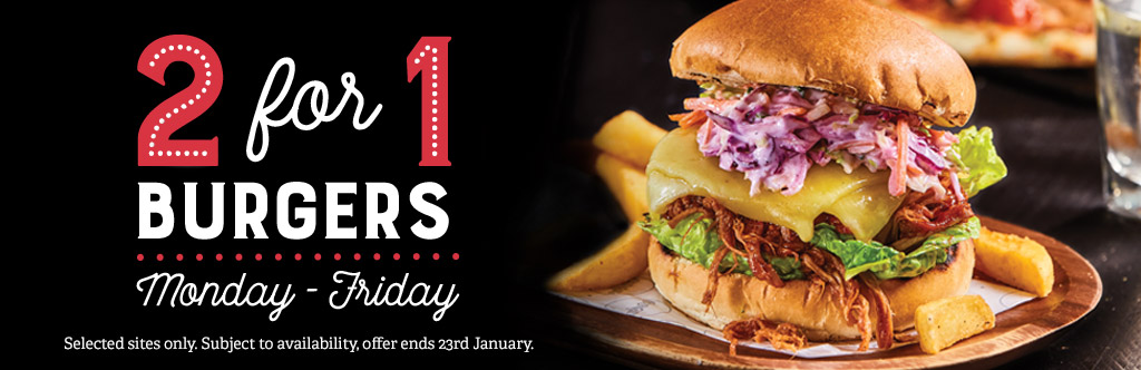 2-4-1 Burgers at The Plough